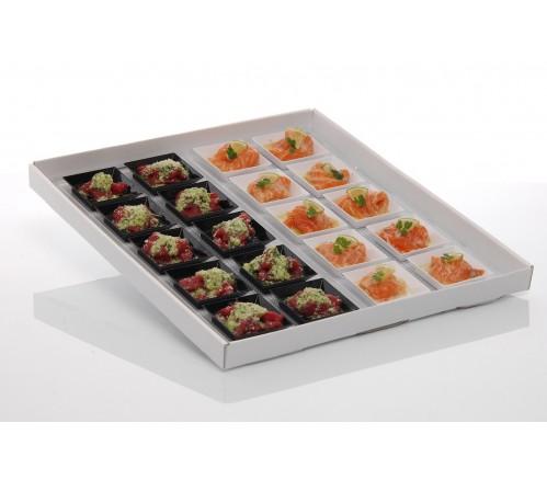 Carpaccio de saumon & Carpaccio de boeuf